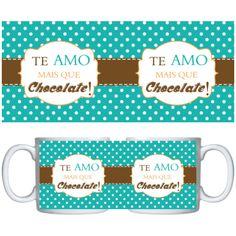 Estampa para caneca Chocolates 000839 - Customize Transfer