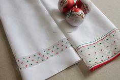 Toalhas de Mão Linho Natal