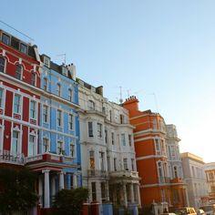 Sun setting over Notting Hill