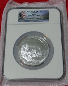 OGP 2010 P Yellowstone America the Beautiful 5 oz Silver Coin Collector Version