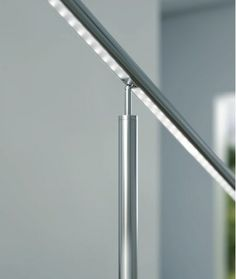 Crosilux handrail with LED fixed to the floor