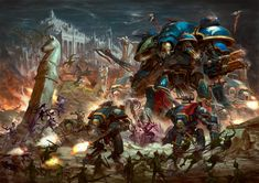 Please note, I am in no way affiliated to Games Workshop or Fantasy Flight Games nor am I anything close to an artist of any sort, I am merely a fan of the franchise and the amazing art it has spawned. Warhammer Fantasy, Warhammer 40k Art, Warhammer Models, Dark Fantasy, Sci Fi Fantasy, Imperial Knight, Game Workshop, The Grim, Space Marine