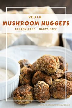 Extremely easy to make and fun to eat, these vegan nuggets are a must try. They are made with Baby Bella Mushrooms and are gluten-free and dairy-free.
