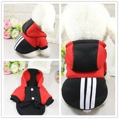 Clothing & Shoes Hot Sell Puppy Sweater Hoodie Coat For Small Pet Dog Warm Costume Apparel & Garden Pet Puppy, Pet Dogs, Pets, Dog Cat, Winter Cat, Dog Jumpers, Dog Branding, Dog Hoodie, Sweater Hoodie