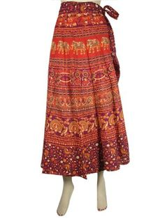 Women Long Wrap Skirt Maroon Red Elephant Peacock Print Gypsy Cotton Wrap Around Skirts Mogul Interior, http://www.amazon.com/dp/B009YCSFLG/ref=cm_sw_r_pi_dp_qK9Kqb19095MR