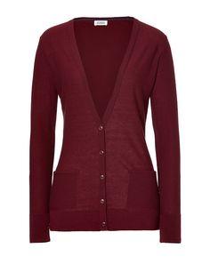 Colour: Wine red cardigan