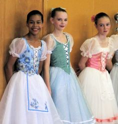 Costumes for Peasant Pas variation from Giselle