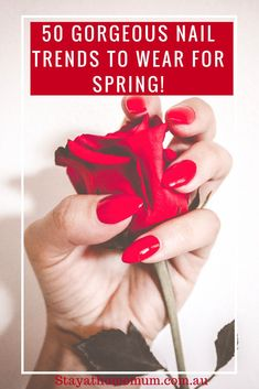 Spring is here! Let's Dress Up Our Nails and look PRETTY! Spring Nail Art, Spring Nails, Diy Beauty, Beauty Skin, How To Look Pretty, Pretty In Pink, Trending On Pinterest, What Is Hot, Beauty Regime