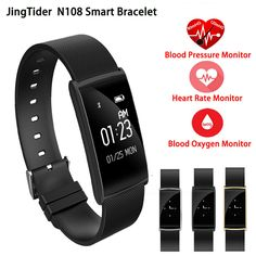 >> Click to Buy << JingTider N108 Smart Bracelet Heart Rate Monitor Blood Pressure smartband Blood Oxygen wristband Fitness Tracker For IOS Android #Affiliate