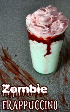 It won't take long for the blood chocolate to mix and spread in the drink making it look messier and creepier! #HalloweenBeverage