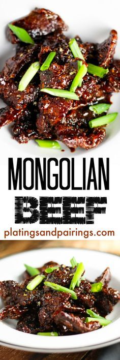 Mongolian Beef.  Very easy really good.  I did not have fresh ginger, used a pinch of dry, cut soy sauce and brown sugar to 1/2 cup, added some sesame oil, subbed red wine vinager for rice wine vinegar and omitted pepper flakes for my kiddos.