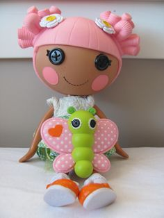 Lalaloopsy ~ Blossom Flowerpot ~ Full Size doll with her Butterfly pet ~ nice!