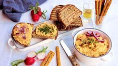 Pikantní sýrová pomazánka  - Proženy Tacos, Bread, Ethnic Recipes, Food, Meal, Brot, Eten, Breads, Meals
