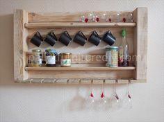 Pallet Kitchen Shelves for Storage                                                                                                                                                                                 Mais