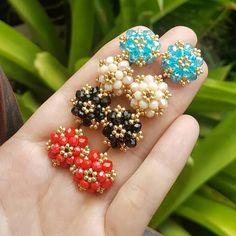 Bead Jewellery, Seed Bead Jewelry, Seed Bead Earrings, Diy Earrings, Diy Necklace, Knitted Necklace, Beaded Earrings Patterns, Jewelry Making Tutorials, Beaded Rings