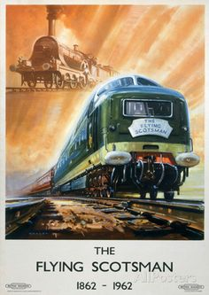 The Flying Scotsman Vintage Style Travel Poster Masterprint at AllPosters.com