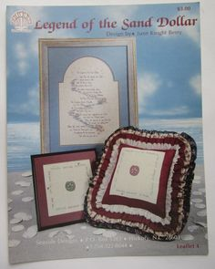 Counted Cross Stitch Legend of the Sand Dollar June Knight Berry Seaside Design