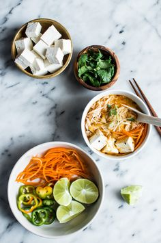 Curry Laksa with Tofu - a delicious, gluten-free dish to keep you warm in the winter!