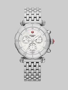 Michele Watches - Stainless Steel Chronograph Watch - Saks.com