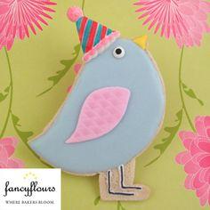 Birthday birdie cookie