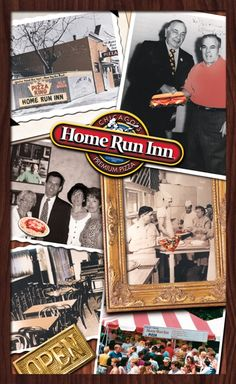 Home Run Inn restaurant menu cover - circa 2000