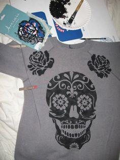 Skull Stencil on Pinterest | Stencil Templates, Glass ...