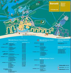 Map of Barcelo Bavaro Palace Deluxe, Punta Cana