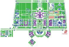 Map of the main campus of Moscow State University, but it is important to note, that this University is spread out around the city.