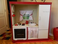 Play Kitchen From Entertainment Center | Then will have to figure out a way to get it home with them, as I know ...