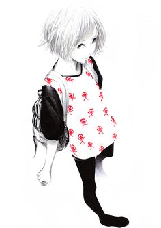 adorable, anime, art, aw, beautiful, cute, draw, girl, illustration ...
