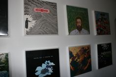 Cheap DIY album cover frames- Perfect for Milam's room.