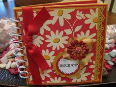 Cool handmade recipe book