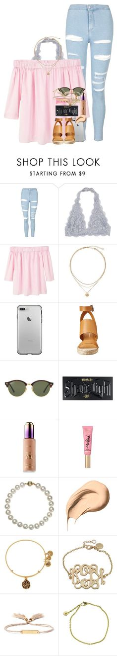"""life can be tough, but you have to persevere."" by ellaswiftie13 ❤ liked on Polyvore featuring Topshop, MANGO, Dolce Vita, Ray-Ban, Kat Von D, Belle de Mer, Bobbi Brown Cosmetics, Alex and Ani, Chloé and Cartier"