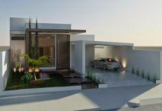 Decor Salteado - Blog de Decoração   Design   Arquitetura   Paisagismo: Fachadas de Casas Térreas – veja 20 modelos modernos e bonitos!