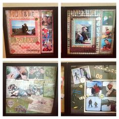 More scrapbooking shadow boxes.