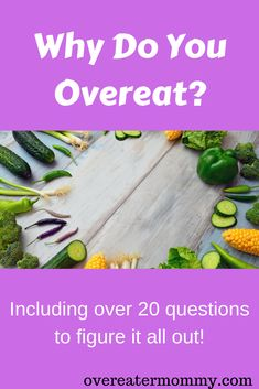 Everyone overeats once in a while. Some people overeat more than once in a while, and then there are the people (ahem, me) that overeat most, if not all of the time. Why do YOU overeat? Compulsive Eating, Compulsive Overeating, Stop Overeating, Binge Eating, Stop Eating, Stress Eating, Mental Health Advocate, Get Thin, Food Out