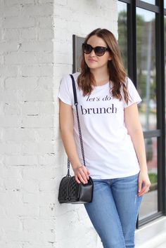 Let's Do Brunch Tee - This feminine cut, stylish tee is perfect for the girl that loves brunch! Omelets, waffles, french toast, fruit, mimosas - we want it all!