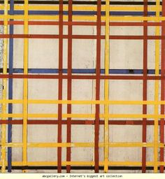 New York City II. Oil and paper on canvas. Project Abstract, Abstract Art, Piet Mondrian Artwork, Robert Morris, Theo Van Doesburg, Famous Artwork, Concrete Art, Square Art, Dutch Painters