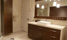 Plan de travail - contour meuble salle de bain