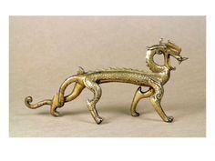 Gilt bronze dragon, Six Dynasties Period.