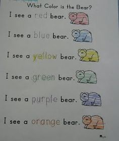 Brown Bear Color Activities