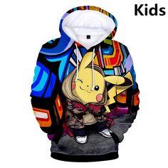 Koffing Face Pokemon Inspired Children Hooded Pullover Pokeball Go Top