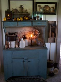 Love this blue cabinet!  ****
