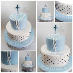 Communion Cake idea, can be adapted for boys too. Description from pinterest.com. I searched for this on bing.com/images