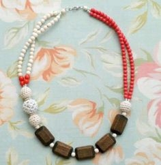 Beaded Boutique Statement Necklace: This DIY necklace is among the prettiest necklaces to make, due to the great use of color and varied bead types.