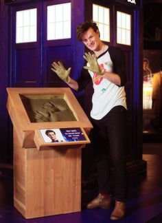 The Doctor Who Experience in Cardiff -- gonna go there someday! You can see Ten's in the background!