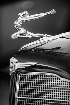 1934 Buick Series 96-c Convertible Coupe Hood Ornament - Emblem Photograph  by Jill Reger 644fbd43aac4