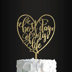 Wedding Cake Topper Custom Cake Topper Best Day Of My Life Custom Wedding Cake Toppers, Personalized Cake Toppers, Wedding Cake Designs, Personalized Wedding, Bridal Shower Cakes, Bridal Shower Decorations, Bridal Shower Gifts, Bridal Showers, Purple Wedding Cakes