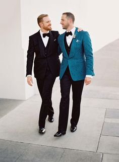 Brian and Chad's Los Angeles fall wedding | Photo by Steve Steinhardt | Gorgeous gay grooms in Tom Ford tuxedos | Full wedding feature on Equally Wed magazine | equallywed.com | award-winning first modern LGBTQ wedding magazine, since 2010.