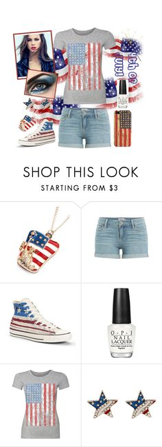 """Independence Day Outfit"" by heather-7-02 ❤ liked on Polyvore featuring Chicnova Fashion, Paige Denim, Converse, OPI and Casetify"